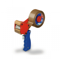 tesa® 56402 Handabroller, rot-blau