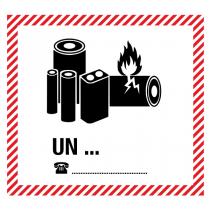Gefahrgut-Etikett, GGK  Li-Batt, 120 x 110 mm