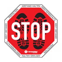 """Bodenzeichen """"STOP Abstand halten"""""""