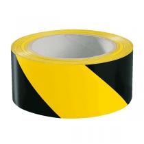 Warnmarkierungsband 60 mm x 66m gelb/schwarz, rechtsweisend