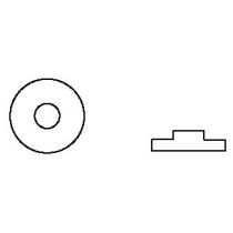 3M™ SJ 6115 Bumpon™ selbstklebende Elastikpuffer, schwarz