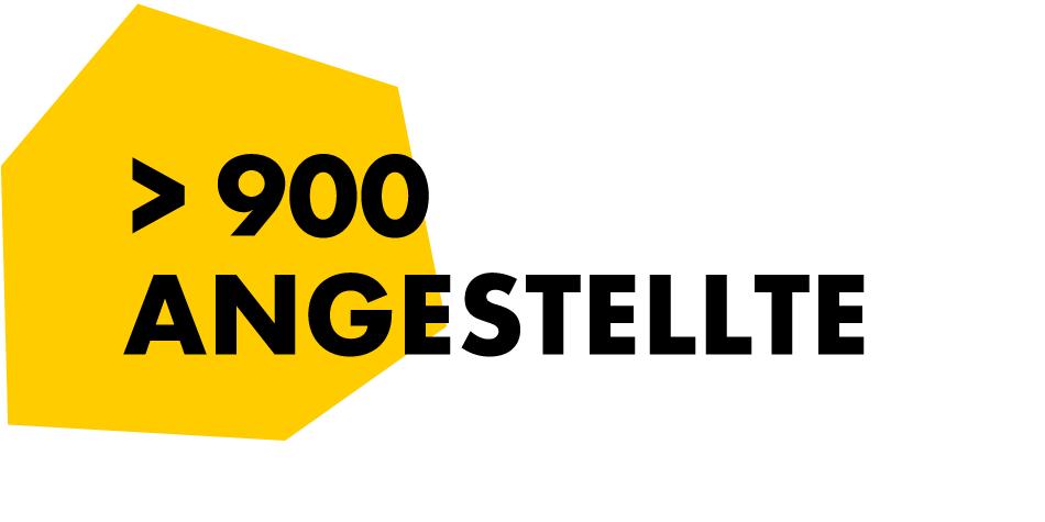 900 Angestellte