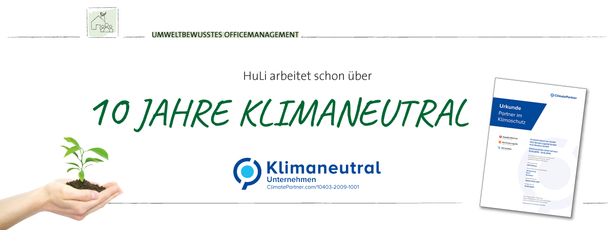 HuLi arbeitet CO2 neutral