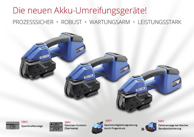 Akku-Umreifungsgeräte